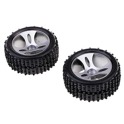 Sharplace 2X Llantas Neumáticos para Wltoys A959 1/18 RC Buggy Coche