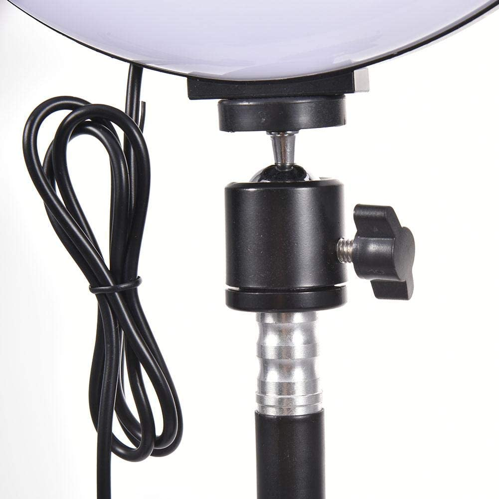 Macddy LED Ring Light 10 with Tripod Stand for YouTube Video and Makeup Dimmable LED Camera Light with Cell Phone Holder Desktop LED Lamp with 3 Light Modes /& 10 Brightness Level Unusual 10