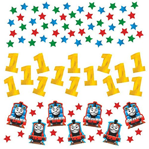 amscan Fun Thomas The Tank Value Pack Birthday Party Confetti, 1.2 oz, Multi]()