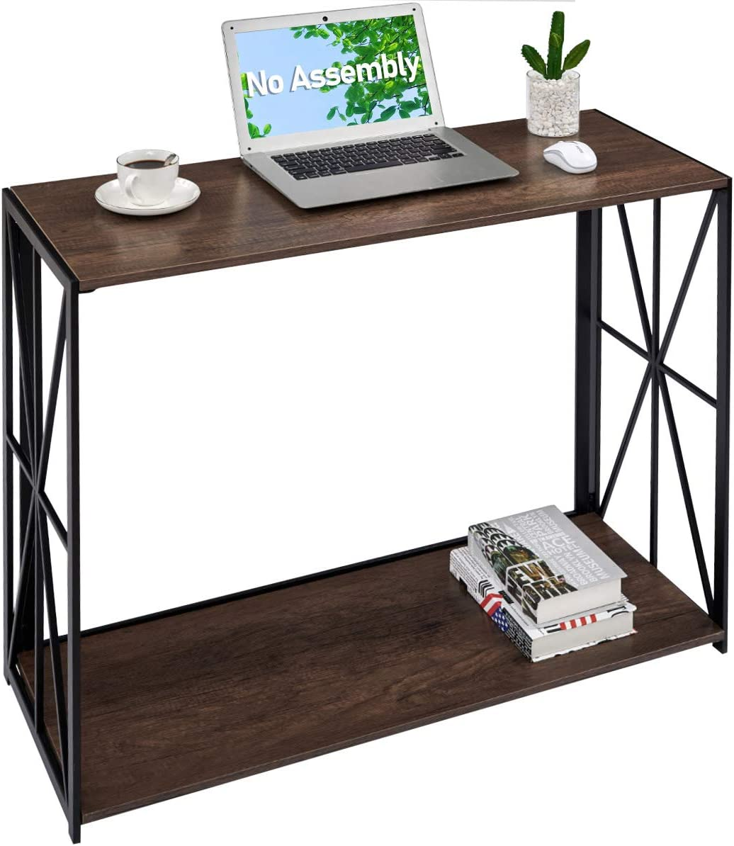 Folding Console Sofa Table 2 Tier Folding Wall Table
