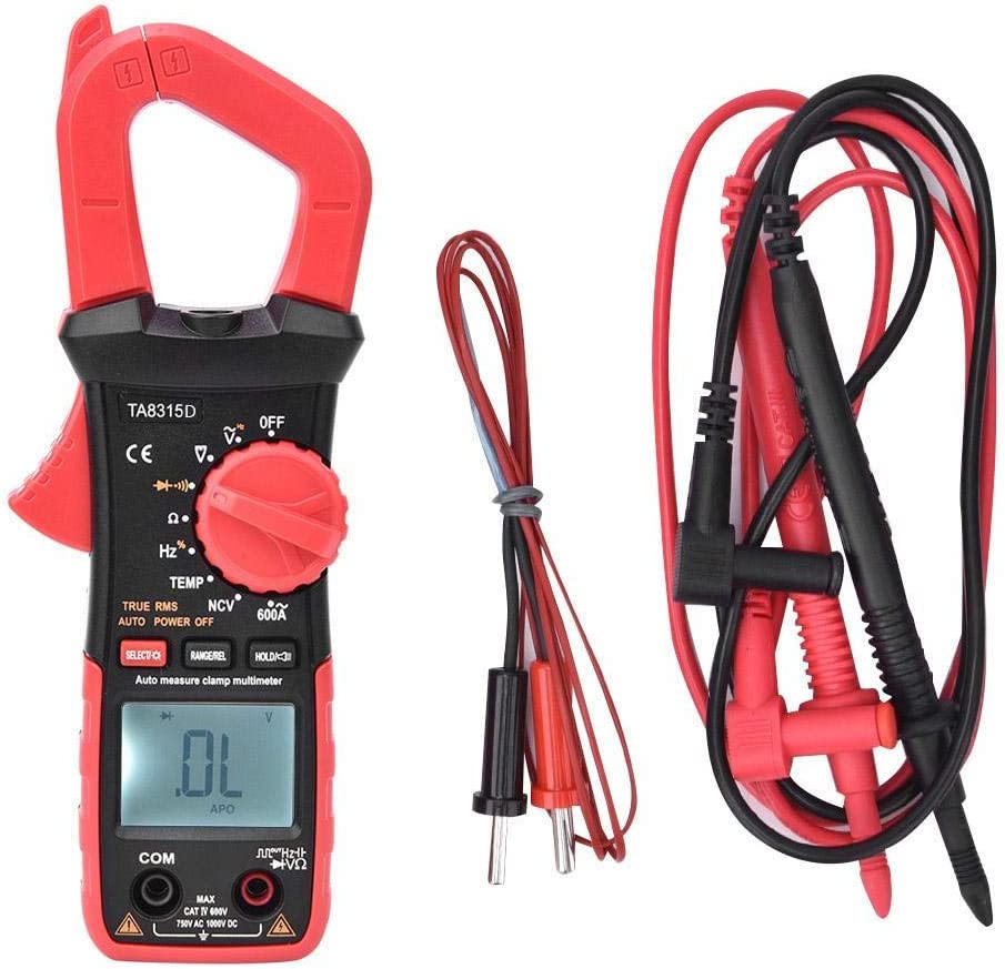 Frequency Handheld Multimeter Temperature Multifunctional Screen Voltage Digital Clamp Meter for Home for Electrician