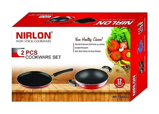 Nirlon Nonstick Cookware Pots and Pans Utensil Set  2 Piece
