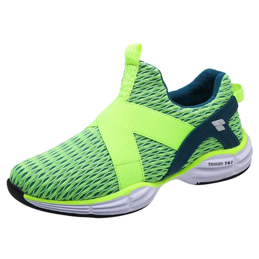 Kauneus Mens Womens Breathable Lightweight Running Shoes Unisex Stretchy NO Strappy Easy Casual Comfy Athletic Shoes by Kauneus Fashion Shoes