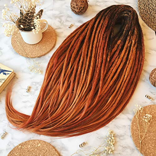Synthetic Crochet Dreads, Red Fox Set, Ombre Dreads, Synthetic dreads, de dreads, se dreads, Black, Custom Dreadlocks Extensions -