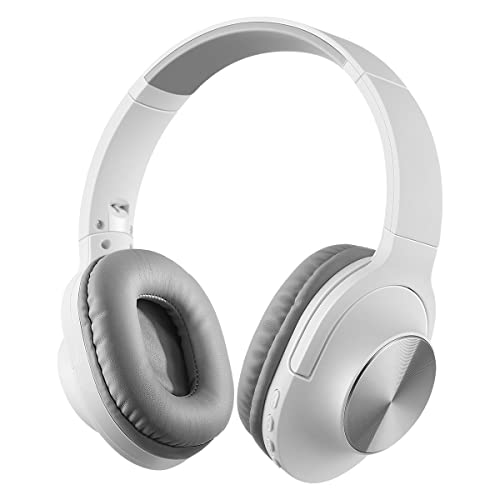 Excelvan Wireless Headphones Bluetooth Over Ear Foldable Noise Isolating Headphones Portable for Men Women, with TF Port, FM, Mic and Volume Control for Tablet ipad iphone Smartphone (White)