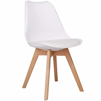 Chaise design scandinave stockholm blanc