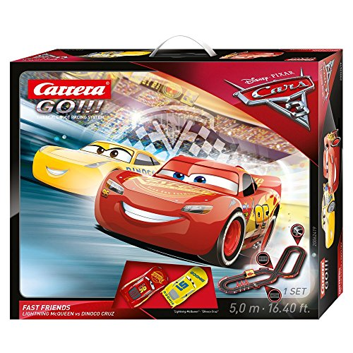 Carrera 62419 GO!!! Disney/Pixar Cars 3 Fast Friends slot car race - Race Carrera Cars