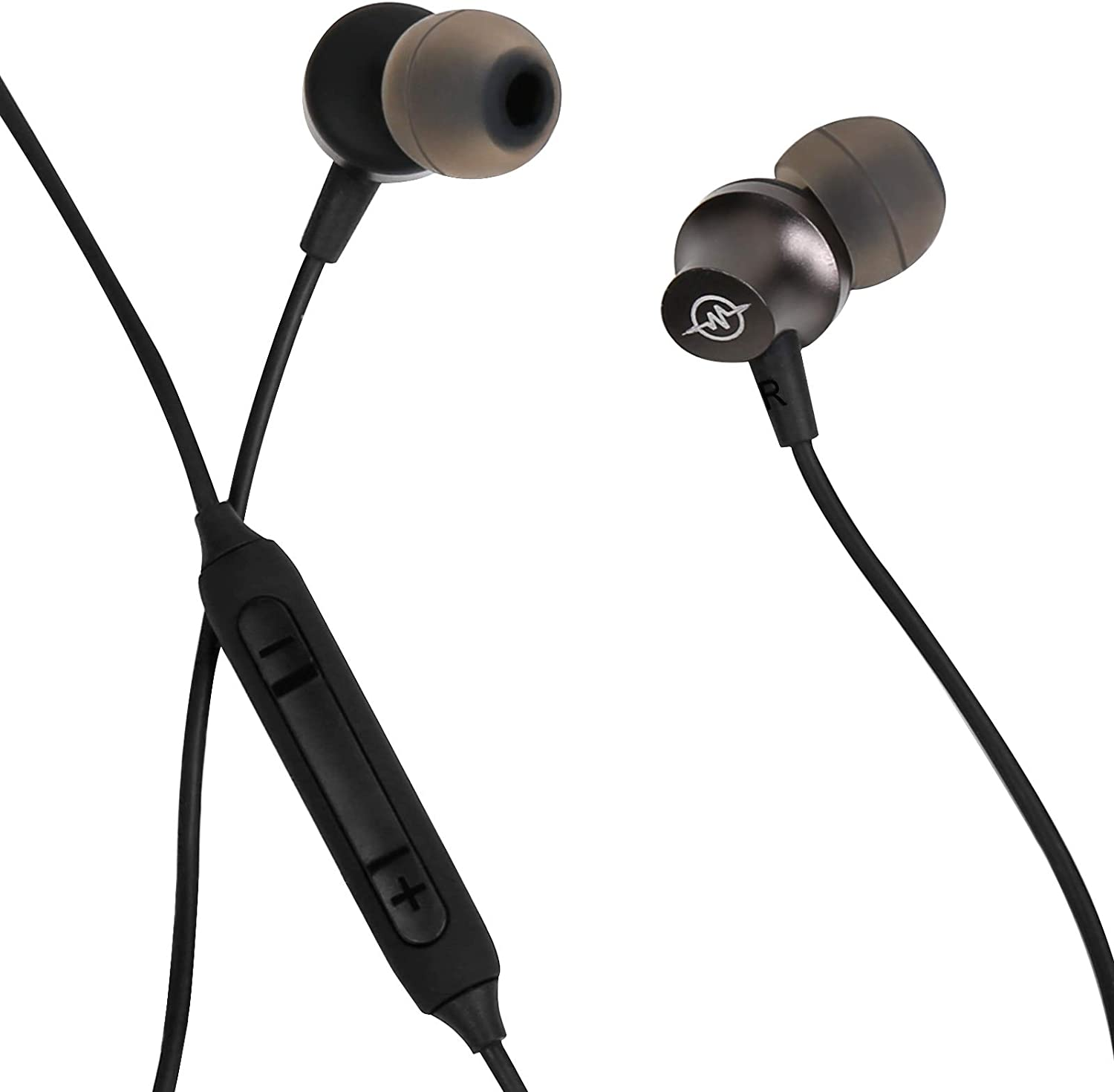 Earbuds Wired Earphones, MELUADI Headphones with Microphone & Noise Isolating Earphones Volume Control, 3.5mm for iPhone, Android Smartphones, iPad, iPod, MP3, Samsung and More (Black)