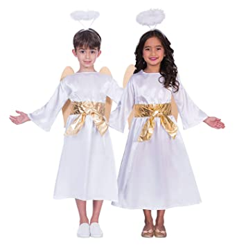a6646eb588 Fancy Dress VIP Express Christmas Nativity Costume for Girls and Boys Angel  Gabriel Outfit Set -