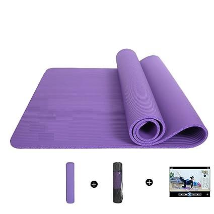 Amazon.com : RUOYOU 10mm Thick NBR Yoga Exercise mat ...