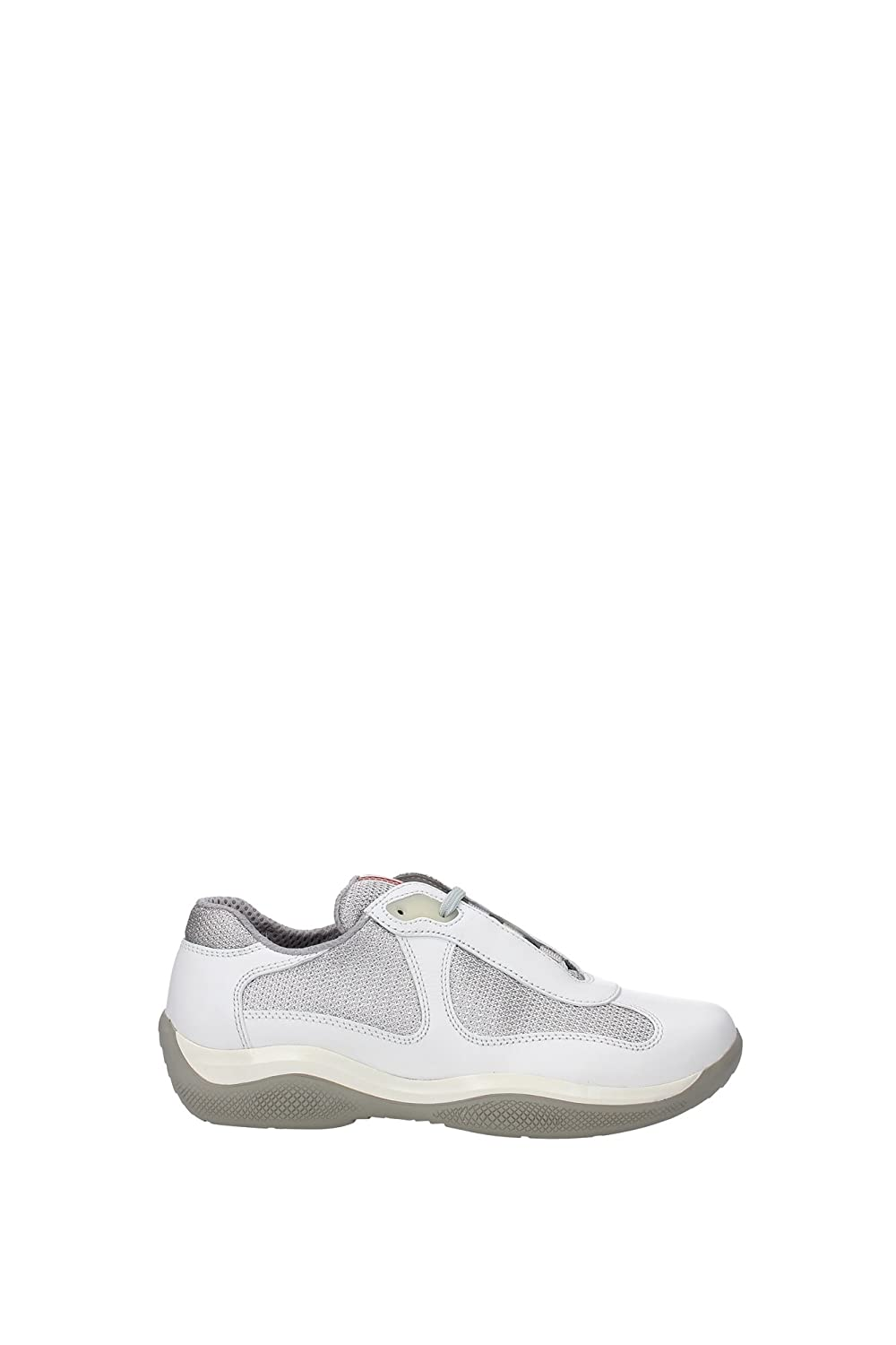 f62abe3f297e Sneakers Prada Women Leather Talc and Silver PR3163TALCO White 4UK   Amazon.co.uk  Shoes   Bags
