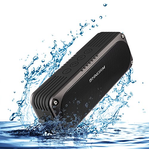MIGVELA IPX4 Waterproof Bluetooth Speaker 20 Watt Super Loud (Dual 10W) 15 Hours Playtime (4400mAh) Portable Outdoor Wireless Speaker Handsfree for iPhone Samsung, Camping, Pool, Beach, Golf, Home