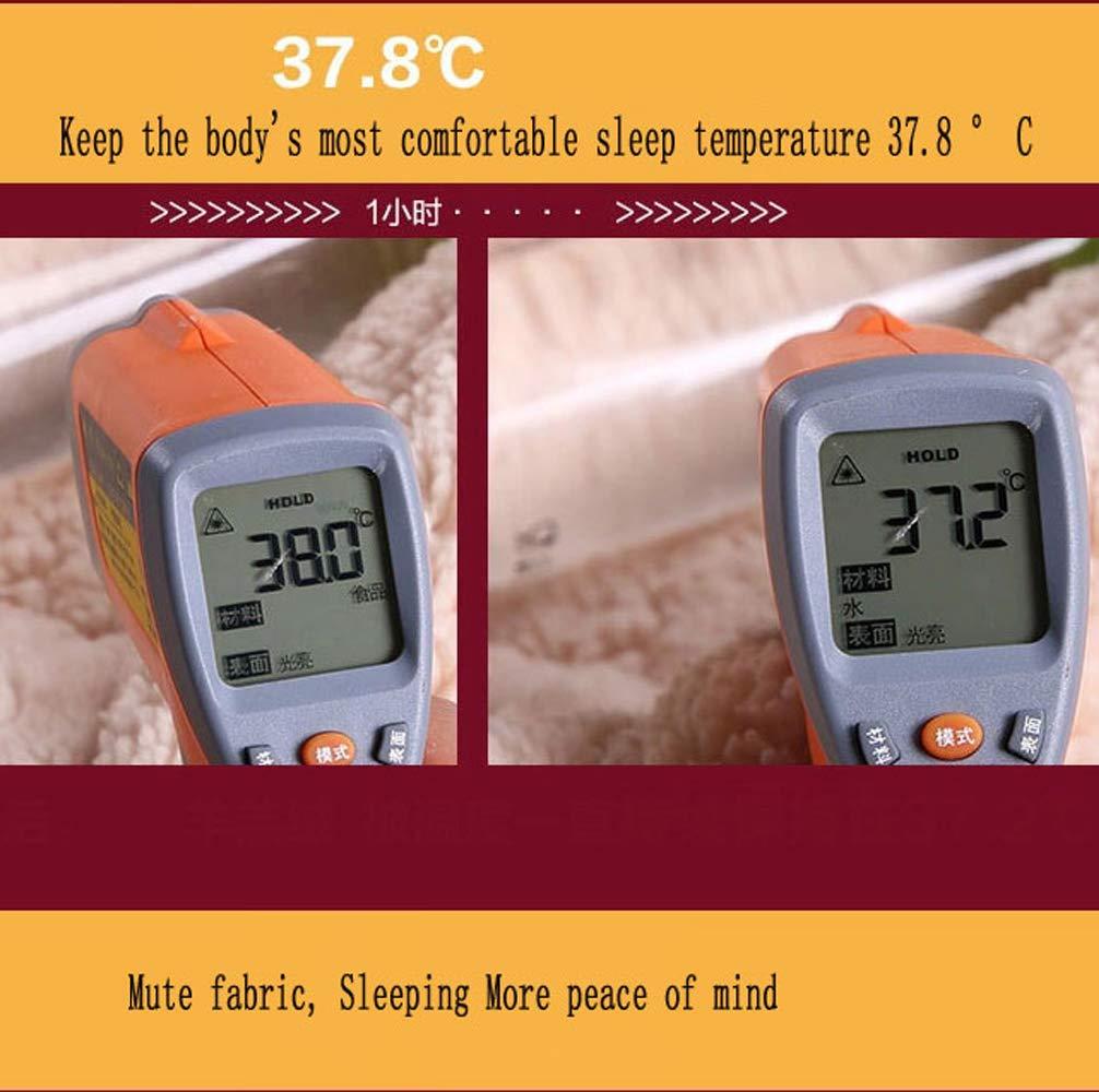 ZQYY Brun clair Courtepointe dhiver en velours dagneau Hygroscopique Respirant Housses de couette ,150 * 200cm unique Double Couette chaude