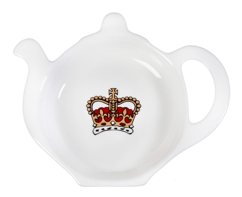 Tea Bag Coasters Tea Accessories Queen Elizabeth Royal Family Gifts for Mom Tea Lovers Teachers Ceramic Crown Design