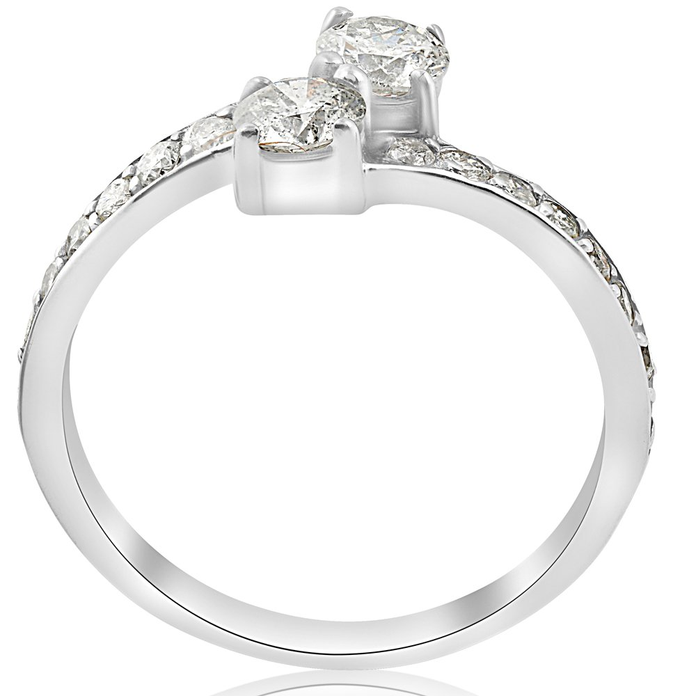 1 Carat Forever Us Diamond Two Stone Engagement Ring 10K White Gold by Pompeii3 Inc. (Image #2)