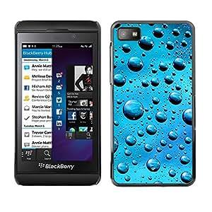 Cubierta de la caja de protección la piel dura para el BLACKBERRY Z10 - Blue Water Drops
