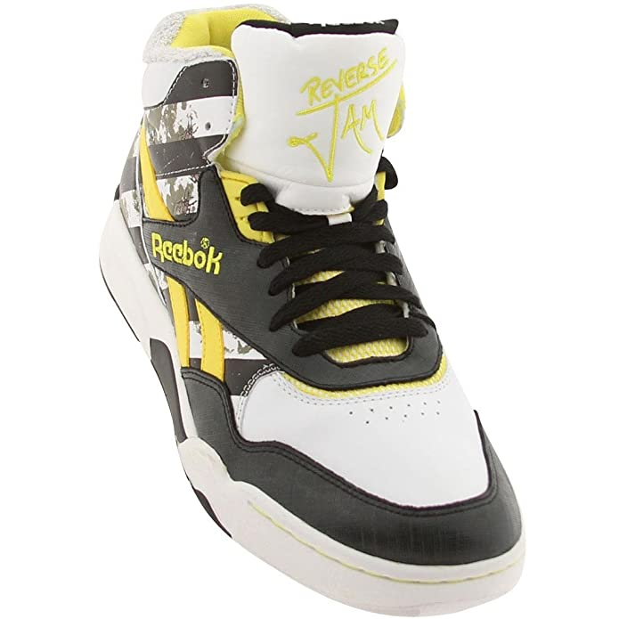 reebok reverse jam mid black white green yellow 15b6e4e3bb