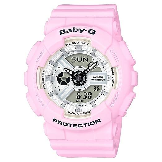 Casio Reloj Analogico-Digital para Mujer de Cuarzo con Correa en Resina BA-110BE-4AER: Amazon.es: Relojes