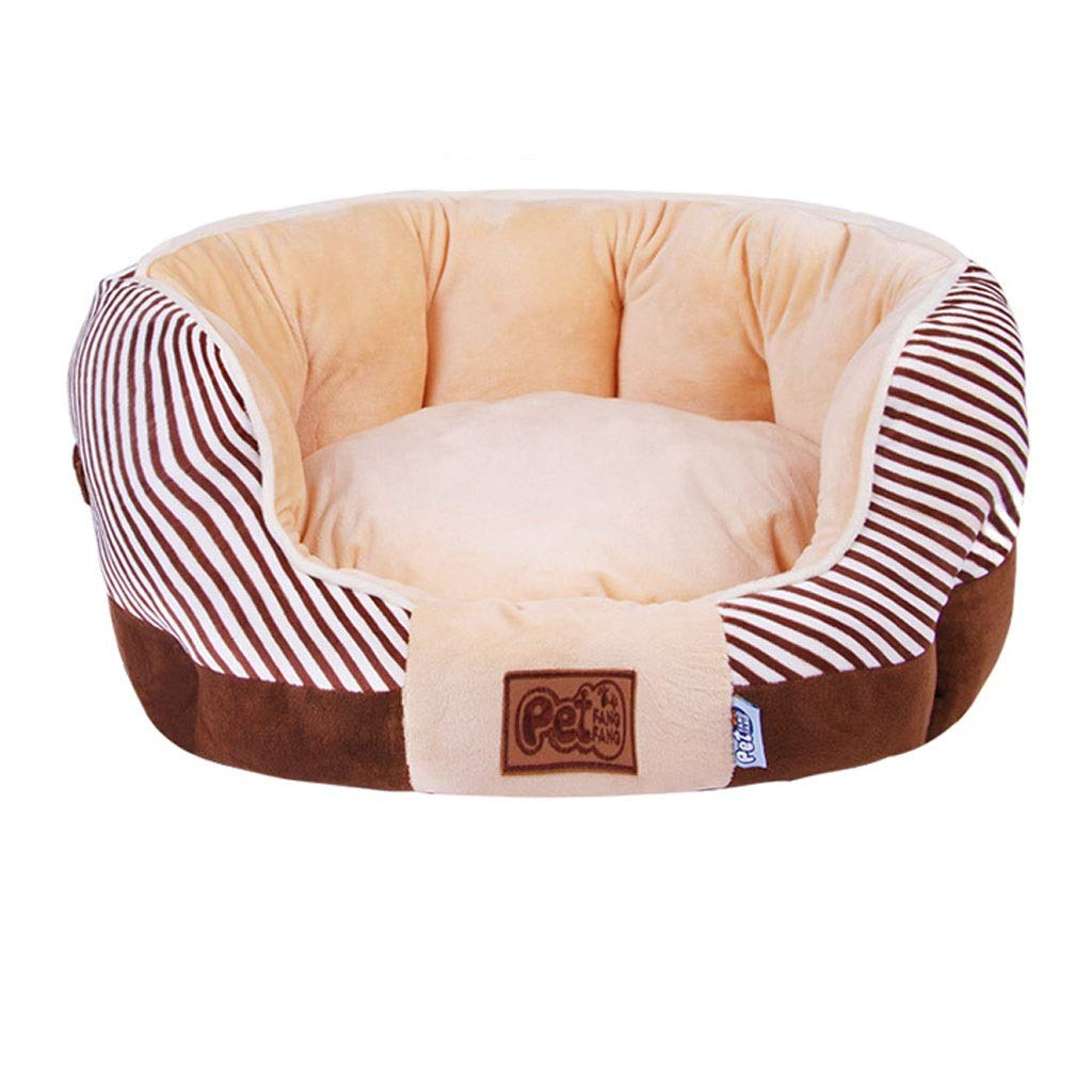 Brown 4045cm Brown 4045cm Dog Bed Cat Bed Dog Bed W Solid Memory Foam, Waterproof Liner, [multiple Colour, Three Sizes ]. Breathable Cotton Blend Cover That Is Removable, Pet Bed (color   BROWN, Size   40  45cm)