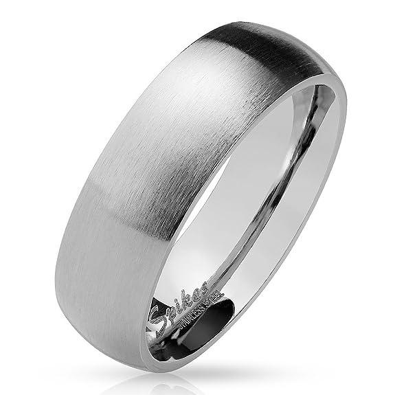 Partnerringe schwarz matt  Paula & Fritz® matt poliert 6mm breit Edelstahlring Damen-ring ...