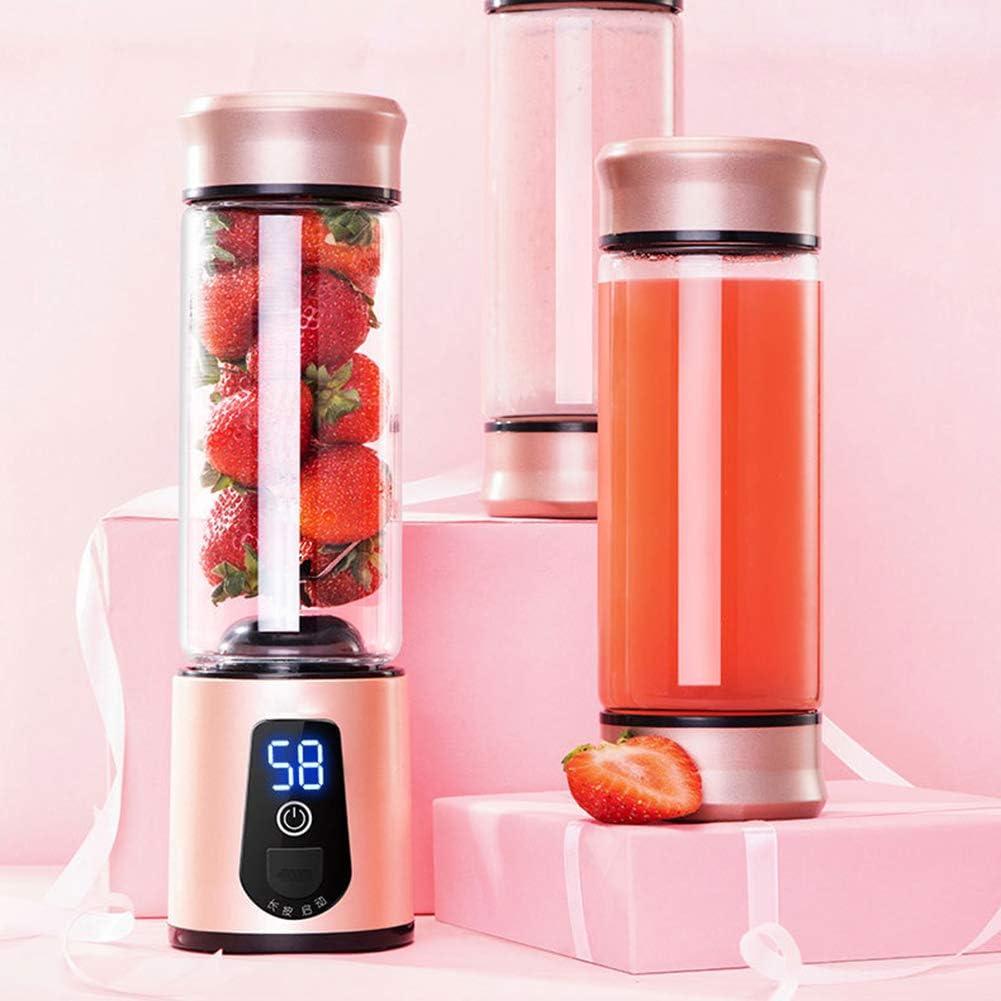 Yongqxxkj - Exprimidor de cítricos eléctrico portátil con 6 palas USB para batidora de frutas, rojo: Amazon.es: Deportes y aire libre