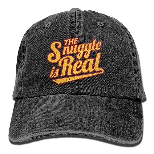 CHUNGCINVI Unisex The Snuggle is Real Vintage Washed Cap Adjustable Dad's Denim Stetson (Miami Ice Bucket)