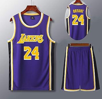 QZH Conjunto de Camiseta de Jersey de Los Ángeles 24, Camiseta de Jugador de Baloncesto 130-210 cm, Camiseta de los Lakers para niños/jóvenes/Adulto,: Amazon.es: Deportes y aire libre