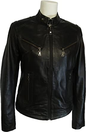 Womens 100% Real Leather Jacket Black Z1 at Amazon Women&39s Coats Shop