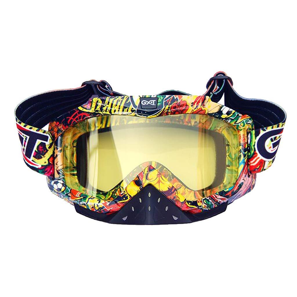 Colore 12 Occhiali da Sole Maschera Occhialoni per Attivit/à Esterna Motocicletta