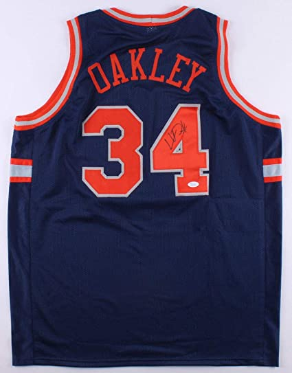 950b18d3a Image Unavailable. Image not available for. Color  Charles Oakley  Autographed Signed Memorabilia New York Knicks Custom ...
