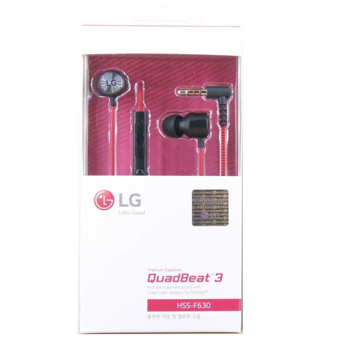 LG Quadbeat 3 In Ear Headphones HSS-F630 For LG G4 (Red)