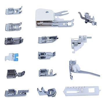 Kit 15 x prensatelas pie pies universal para máquinas de coser Singer Brother: Amazon.es: Electrónica
