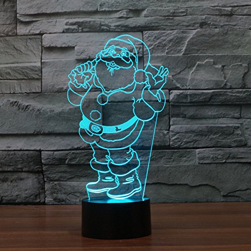 Comics+3D+Night+Lamp+ Products : Santa Claus Acrylic 3D Led Night Light Desk Table Lamp Touch Switch Usb 7 Colors