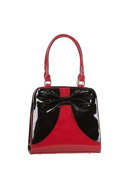 Pré-commander bien pas cher remise pour vente Banned Lila Sac A Main Vernis A Noeud (Rouge/Noir)