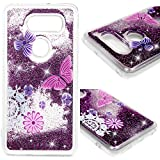 LG V30 Case, LG V30S Liquid Case Quicksand Case Flowing Moving Liquid Bling Glitter Shiny Love Hearts Soft Flexible Shockproof TPU Back Shell Slim Fit Protective Cover Case for LG V30+