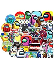 Among Us Graffiti Stickers 50 Pcs Among Us Fandom Crewmate Stickers Not Repeated for Kids Teens Adults DIY Snowboard Laptop Luggage Fridge Guitar Graffiti Waterproof Best Kid Toy Cartoon Stickers.