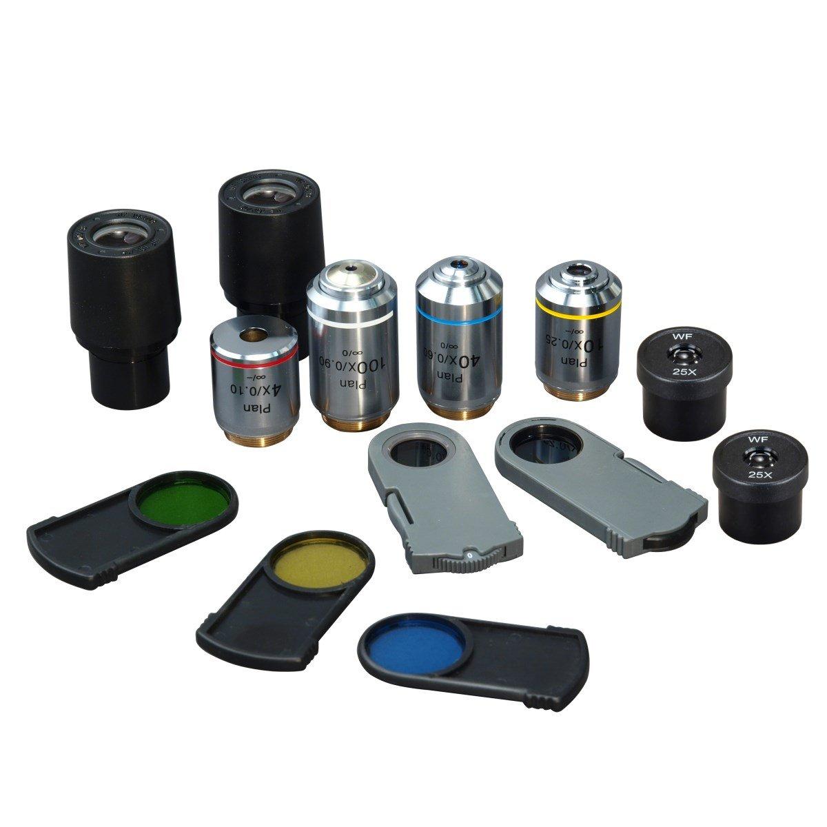 OMAX 40X-2500X Digital Infinity Trinocular Polarizing Metallurgical Microscope with 14MP Camera and 100X Dry Objective