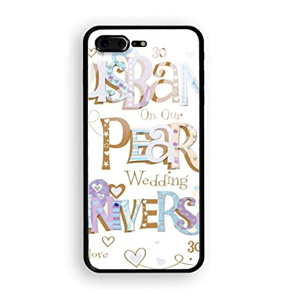 iPhone 8 plus Case, To Husband 30 Years Anniversary Tempered Glass Back Case with Reinforced