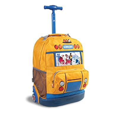 Amazon.com | School Bus Rolling Backpack | Kids' Backpacks