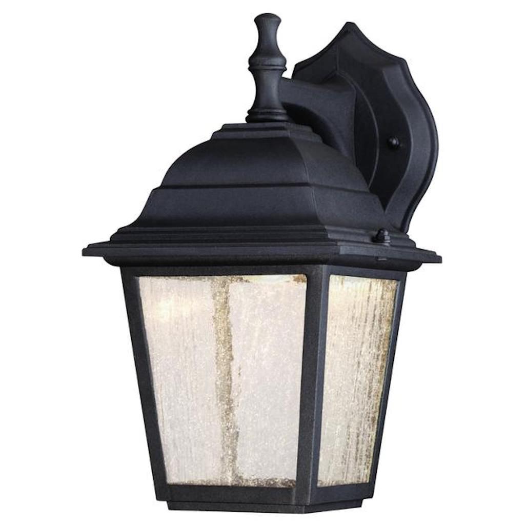 Westinghouse 64001 - 9 watt 3 LED 6'' Black Finish on Cast Aluminum with Seeded Glass Panels LED Wall Lantern Light Fixture