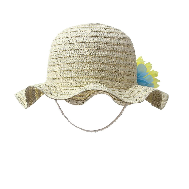 493ab392ff04 Vivo-biniya Vivobiniya Baby Girl Flower Straw Hat Kid Beach Sun Protection Hats  0-6Years Old  5WefJ0707154  -  15.99