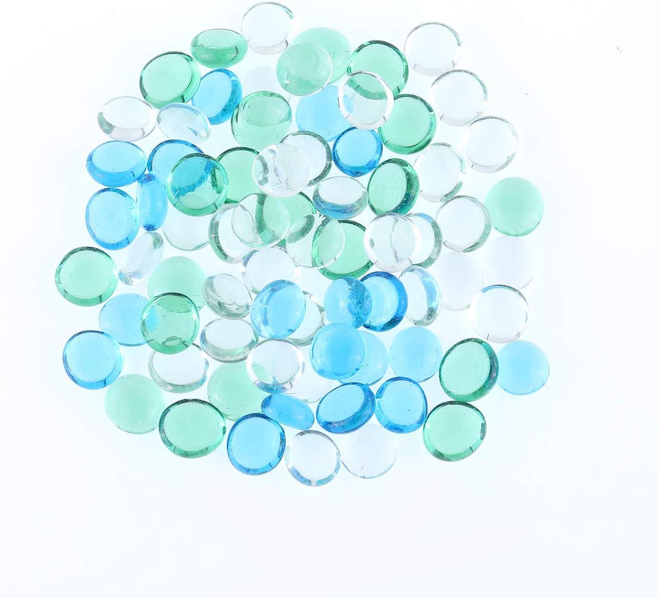 Mipruct Vase Filler,Colorful Crystal,Stone Gem for Garden,Decorative Glass Beads,Glass Gem in Vase,0.75LB-Approx 75pack (Light Mix)