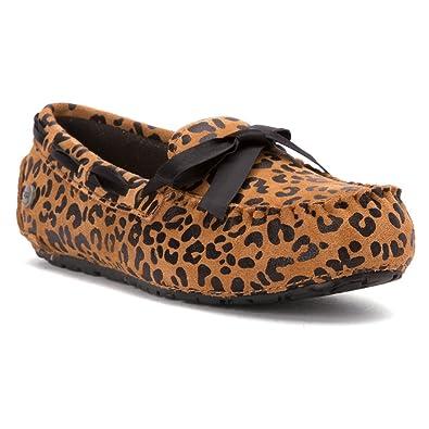 d815e5aa903 UGG Australia Girl s Ryder Leopard Chestnut Suede Slipper 10 ...