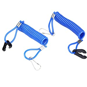 Boat Motor Kill Stop Switch, Emergency Stop Switch healthyty Lanyard Cord, Aukson 2 pcs Outboard Engine Ignition Emergency Kill Switch healthyty Tether Lanyard for Yamaha