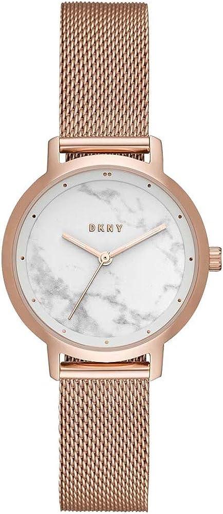 DKNY The Modernist Reloj para Mujer Correa de COTA de Malla Dorada NY2703