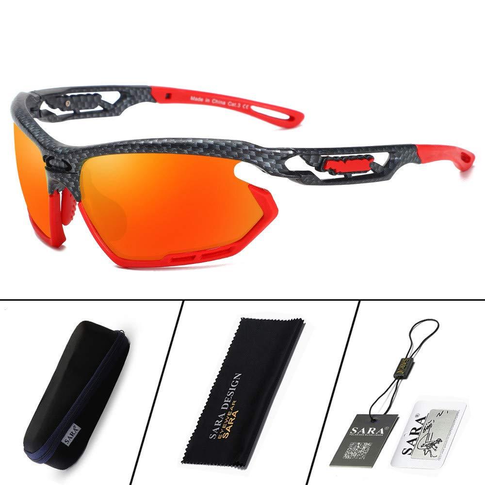 orange UV400 Predection Sports Sunglasses Polarized Sunglasses Outdoor Cycling Glasses Sports Eye Predective Glasses Men's and Women's (color   orange)