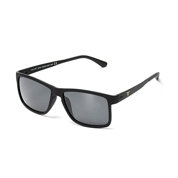 5f0a0d16af Tacloft Wayfarer Sunglasses 57mm HD Polarized Sunglasses TR004(Black  Frame Black Lens)