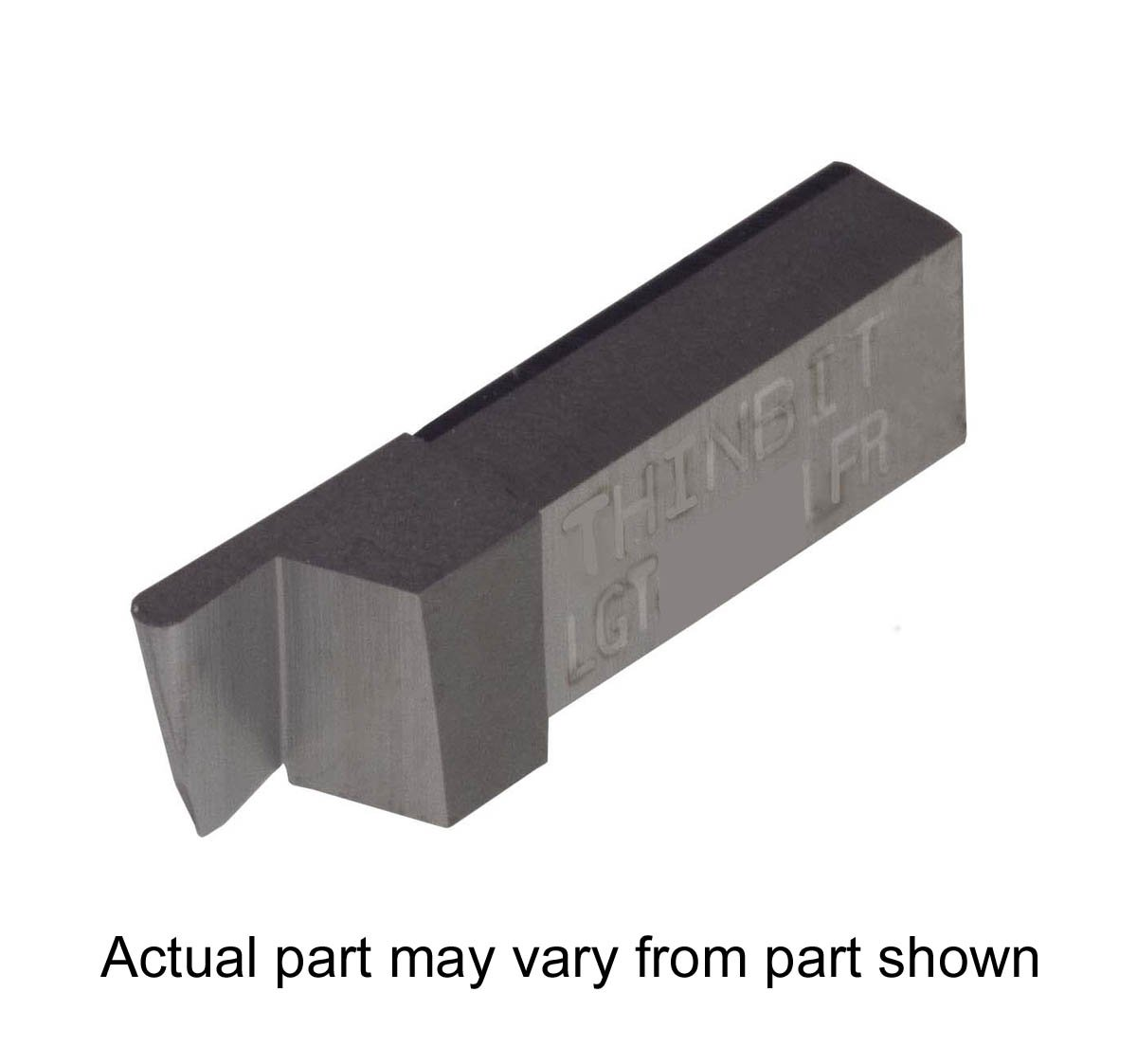 Aluminium and Plastic Without Interrupted Cuts THINBIT 3 Pack LGT041D5LFR 0.041 Width 0.102 Depth Grooving Insert for Non-Ferrous Alloys Uncoated Carbide Full Radius