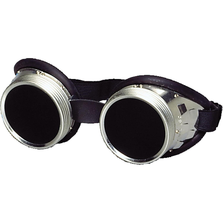 ... de anillo de rosca con almohadilla de goma de 50 mm de diámetro, lentes de vidrio transparente o tintadas en verde, DIN 4 – 6, gafas de tipo Minion, ...