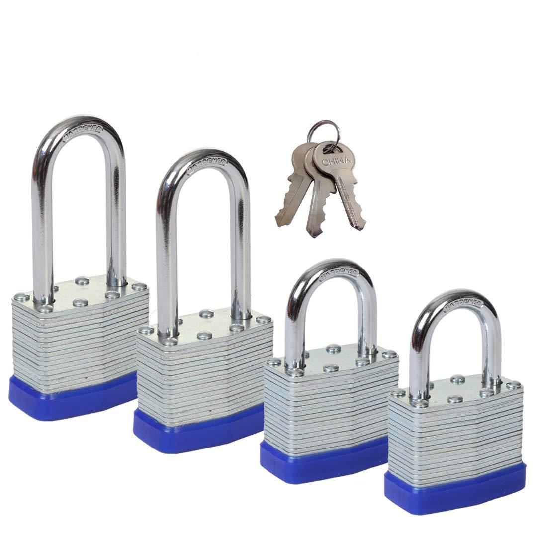 SEPOX 40MM lange Schä kel laminiert wasserdicht Keyed Padlocks Pack von 2 mit 3 Schlü sseln